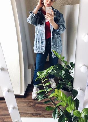 Джинсовки з рваностями , дуже круті, якісний плотний джинс3 фото