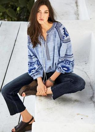 Хит сезона - вышиванка next нежнейшая вышитая блуза из хлопка