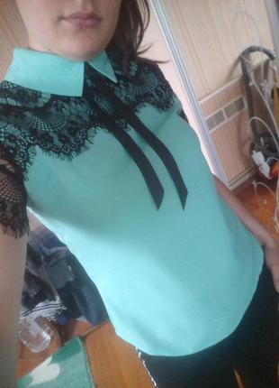 Блузочка,кружево ресничка