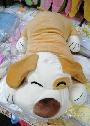 Игрушка подушка собачка с пледом. подарок ребёнку