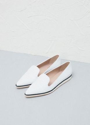 Плетеные туфли с острым носком uterque