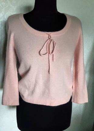Шикарная пудрово розовая кофточка с хорошим составом шерсть + ангора