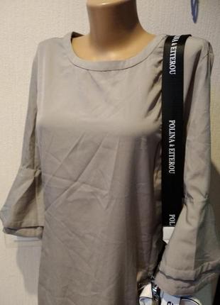 Платье тонкое прямого покроя миди оверсайз