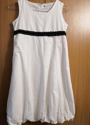 Красивое белоснежное платье blukids на 12 лет