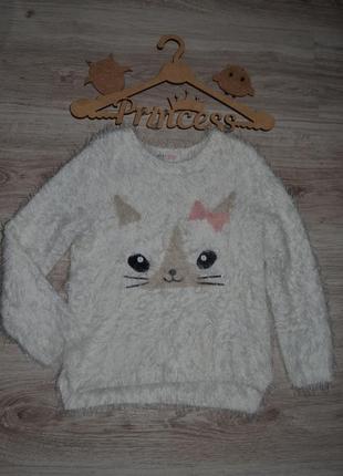 Кофта свитерок мягкий моднице h&m 4-6л котик