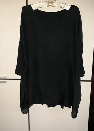 Шелковая блуза кофта футболка италия 100% шелк