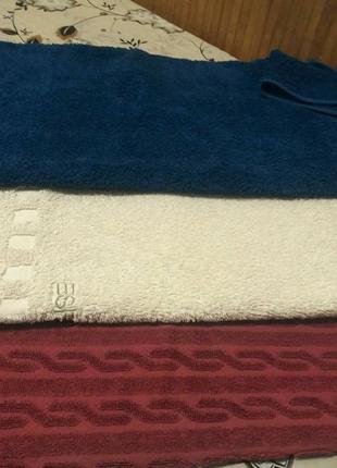 Набор из 3-х банных полотенец 135 на 75см3 фото