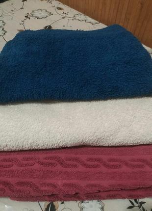 Набор из 3-х банных полотенец 135 на 75см