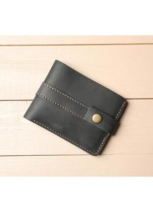Небольшой кошелек из натуральной кожи черного цвета