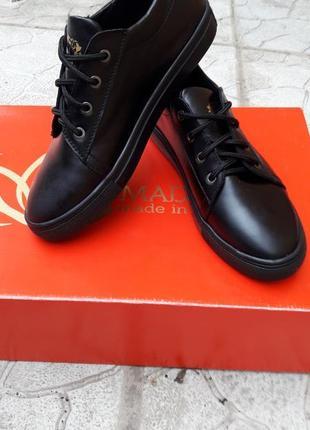 Скидка!! кроссовки кеды кожаные черные и золото
