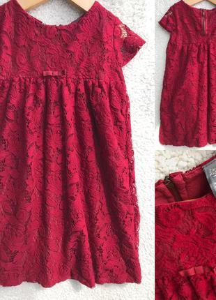 Ажурное платье zara 7-8 лет