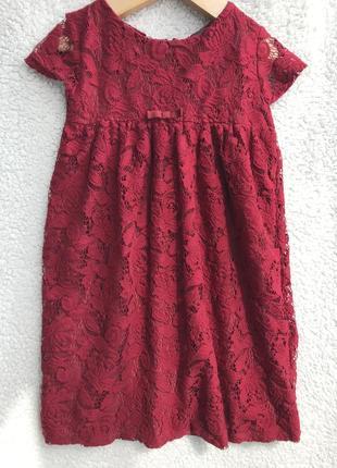 Ажурное платье zara 7-8 лет3 фото