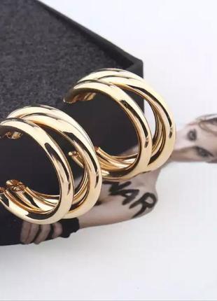 Серьги в стиле zara золото сережки