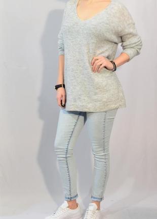 2763\50 светло-серый свитер свободного кроя h&m m