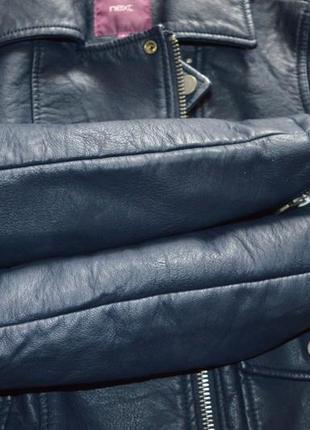Куртка кожанка косуха next p xs6 фото