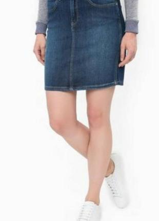 Отличная джисовая юбка базовая с потьортостями1