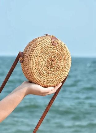 Сумка  плетеная пляжная из ротанга