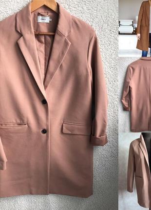 Бежевый блейзер-пальто идеал xs/s