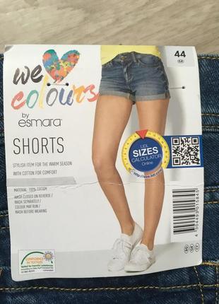Классные женские джинсовые шорты от esmara размер 44 наш 50 хорошо маломерят