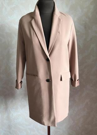 Пудровый блейзер-пальто идеал xs/s2 фото