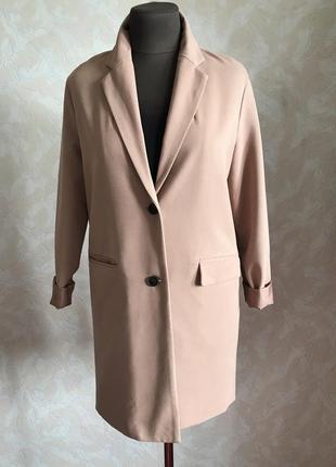 Пудровый блейзер-пальто идеал xs/s3 фото
