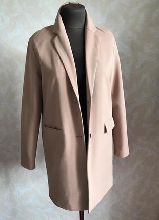 Пудровый блейзер-пальто идеал xs/s4 фото