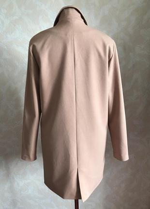 Пудровый блейзер-пальто идеал xs/s6 фото