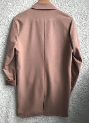 Пудровый блейзер-пальто идеал xs/s8 фото