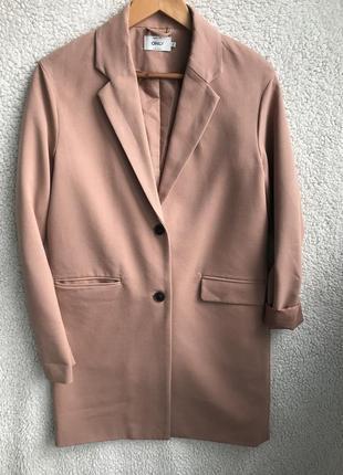 Пудровый блейзер-пальто идеал xs/s9 фото