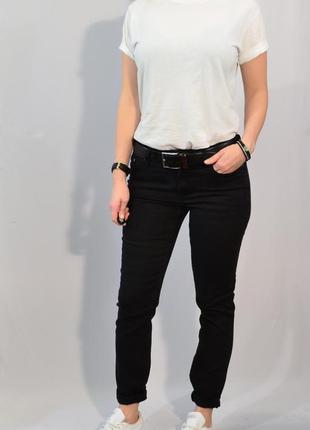 2764\110 плотные черные джинсы  river island l xl