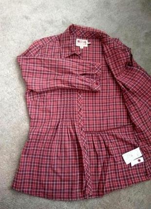 Акция! винтажная рубашка в клетку mustang2 фото