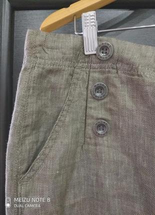 Классная большая юбка из льна.3 фото