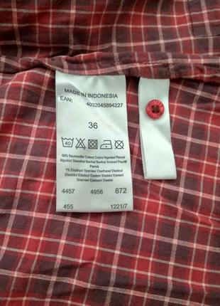 Акция! винтажная рубашка в клетку mustang4 фото