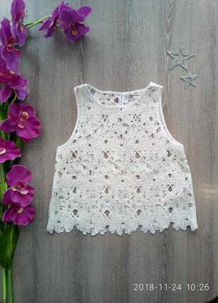 Очень красивая ажурная блуза