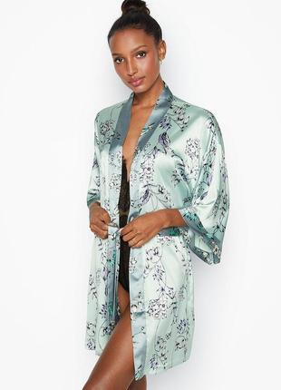 Халатик victoria's secret оригинал, кимоно шёлковый сатиновый халат виктория сикрет