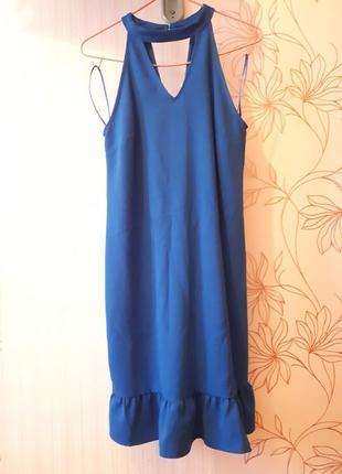 Синее платье midi от koton