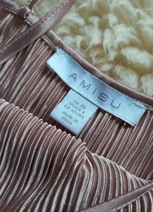Трендовое платье плиссе в бельевом стиле amisu6 фото