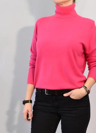 2766\70 розовый свитер с высоким горлом next xxxl3 фото