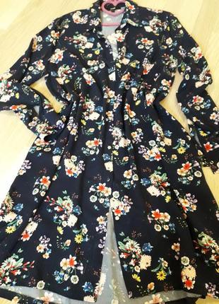 Платье актуальный цветочный принт