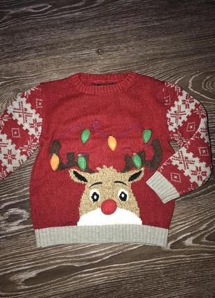 Новогодний свитер с оленем george