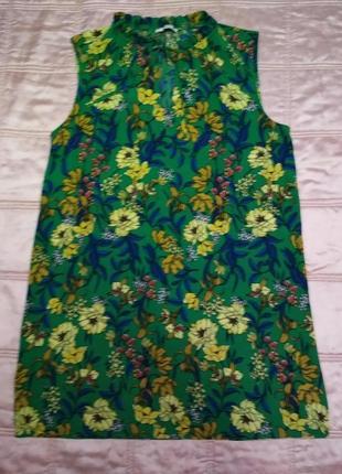 Шикарное платьице tu свободного  силуэта в цветочный принт вискоза