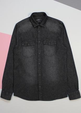 Четкая джинсовая рубашка на заклепках с высветлениями от peacocks