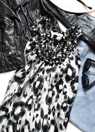 Топ леопардовый фирменный в анималистический принт 🐆🦒🦓 майка блуза