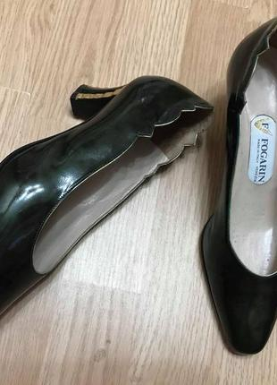 Туфли модельные fogarin оригинал италия лак кожа р.37-37,5  ст.24-25см