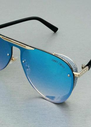 Jimmy choo очки женские солнцезащитные зеркальные голубые