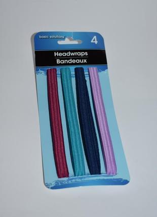 Новый набор резинок 4 headwraps basic solutions оригинал сша