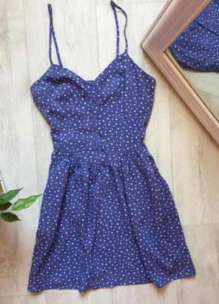 Платье сарафан в сердечки h&m