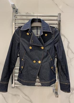 Оригинальный джинсовый пиджак trussardi