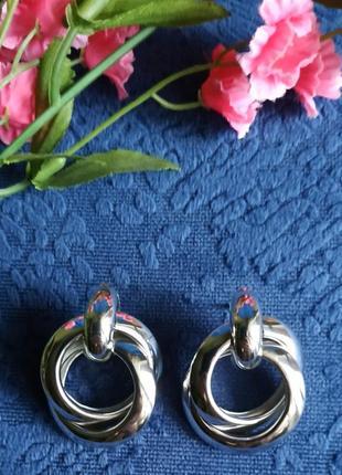 Серьги в стиле zara сережки серебро винтаж