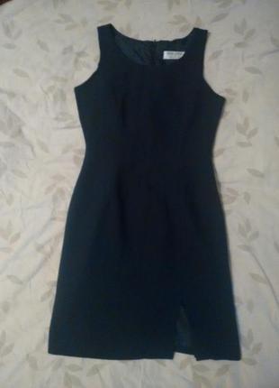 Платье футляр темно синего цвета